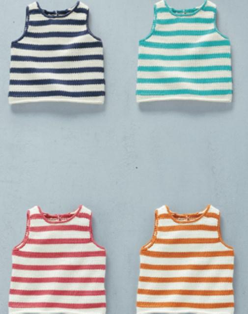 Camiseta de rayas para bebé. Patrón