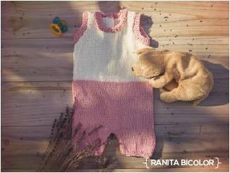 Ranita bicolor para bebé. Patrón