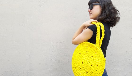 Kit bolso Yellow Day by Anna Knit in Jaune