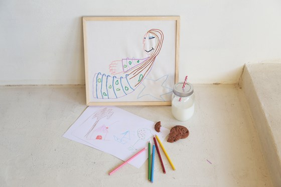 Dibujo infantil bordado. Patrón