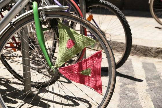 Embellecedores de bici. Patrón