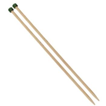 Bamboo:aguja recta bambú japonés de 33cm Knitpro
