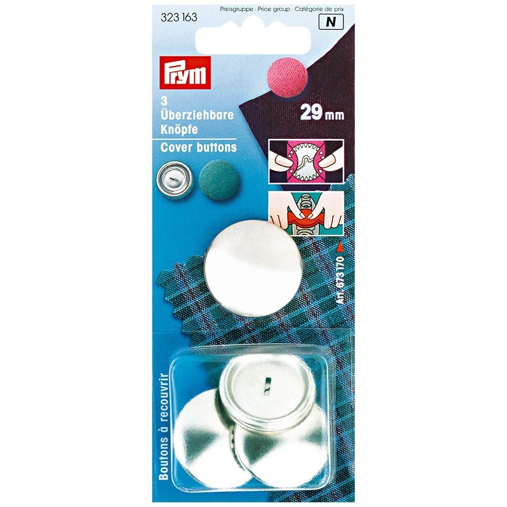 recambio botones revestibles latón plateado Prym